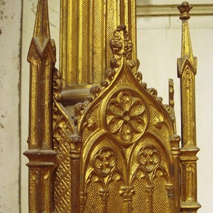 Pair of French Gilt Bronze Prickets
