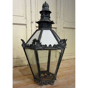 Early 19thC Copper and Lead Pagoda Top Lantern