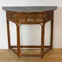 20th Century cane and wood console