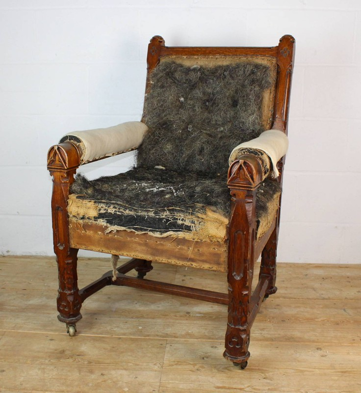 19th C carved oak chair on original brass casters-dean-antiques-IMG_2354-main-636663368301776991.JPG