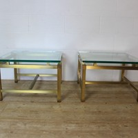 Pair of 1974 Lacquered Brass Coffee Tables