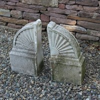 Pair of Limestone Finials