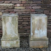 Pair of 19th Century Plinths