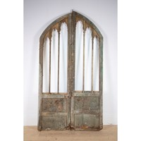 Pair of early 19th century gothic doors