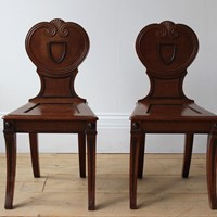 Pair of 19th Century Hall Chairs