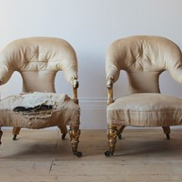 Pair of 19th Century Armchairs for re-upholstery