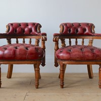 Pair of 19th Century Desk Chairs