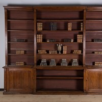 Large Country House oak Bookcase