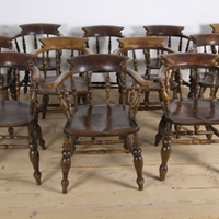 12 19th century Smokers Bow Chairs