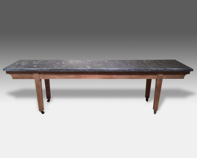 Mid 20thC bleach oak table with a later zinc top-dean-antiques-zink table_main_636040975072166304.jpg
