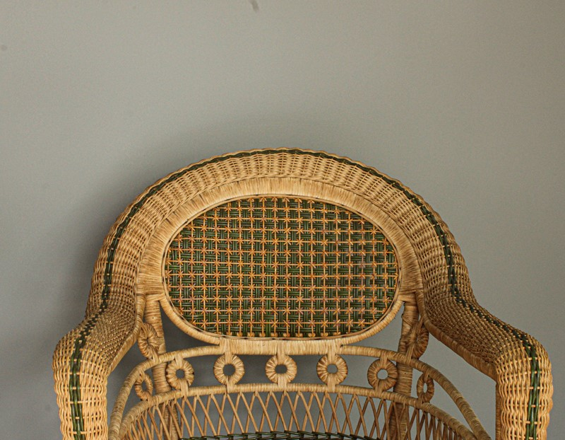 1950's Pair of Wicker Chairs and  Plant Stand-decorative-garden-antiques-img-4661-main-637401751501975126.jpg