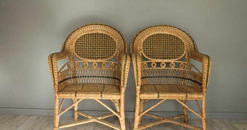 1950's Pair of Wicker Chairs and  Plant Stand-decorative-garden-antiques-img-4662-main-637401751534474747.jpg