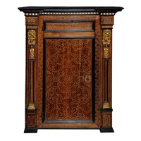 North Italian Renaissance Walnut Corner Cupboard