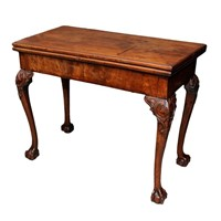English George II Mahogany Folding Card Table
