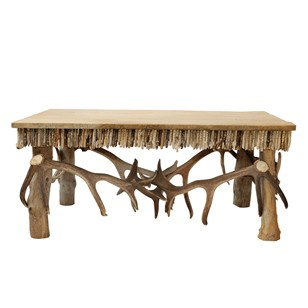Contemporary Antler & Driftwood Coffee Table
