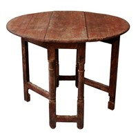 English Country Painted Oak Gateleg Table