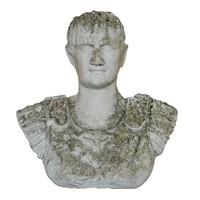 Heavily Weathered Plaster Hanging Bust of Caesar