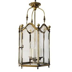 French Louis XV Style Brass Hanging Lantern
