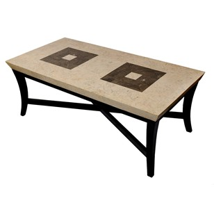 Italian Veneered Marble Top Coffee Table