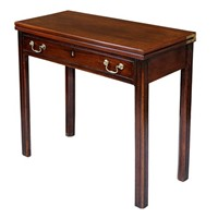 Early George III Mahogany Card Table