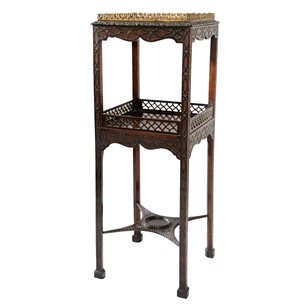 George III 18th Century Mahogany Two Tier Stand