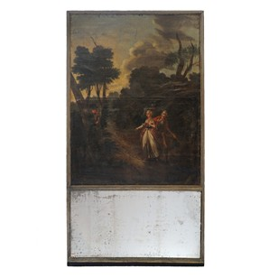 French Late 18th Century Louis VI Trumeau Mirror
