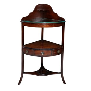 English Mahogany George III Corner Dressing Stand