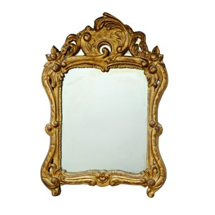 Italian Carved Wood & Gilded Baroque Mirror