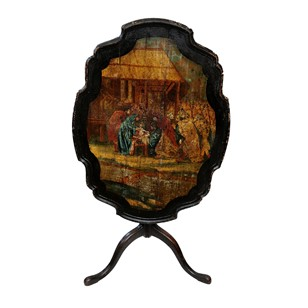 Mid 18th Century Dutch Painted Tripod Table