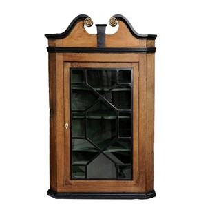 English Dry Oak George III Corner Cupboard