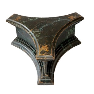 French Faux Marble Painted Tri-Form Stand