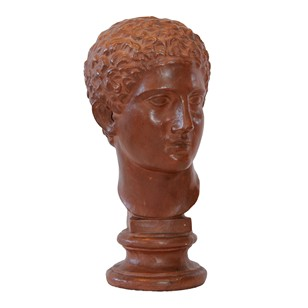 French Plaster Bust of a Classical Youth