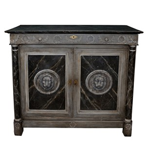 French Empire Napoleonic Painted Buffet