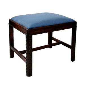 English George III Chippendale Style Stool