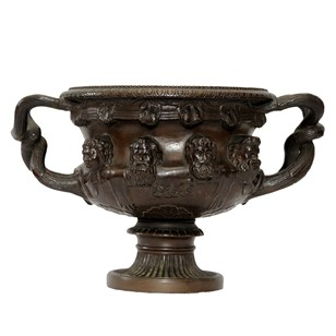 French Bronze Rendition of Famous Warwick Vase