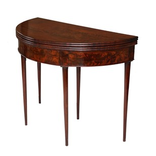French Louis XVI Mahogany Circular Card Table