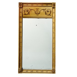 Swedish First Empire Giltwood Pier Glass Mirror
