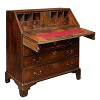 English George II Walnut Bureau