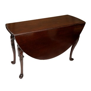Irish George III Cuban Mahogany Drop Leaf Table