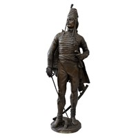 Fine Bronzed Metal Figure of French General