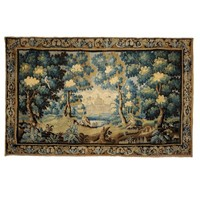 Large Louis XIV 17th Century Verdure Tapestry