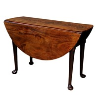 Fine George II Mahogany Oval Gateleg Table