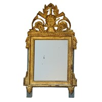 French Louis XVI Giltwood & Painted Mirror