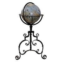 Spanish 16th Century Style Globe on Stand