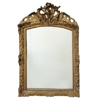 Large Carved & Gilded French Regence Mirror