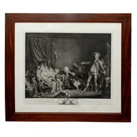 French Louis XVI Period Black & White Engraving