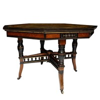 French Aesthetic Movement Octagonal Centre Table
