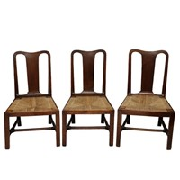 Set of Three English George II Walnut Side Chairs