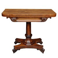 Late Regency George IV Rosewood Card Table