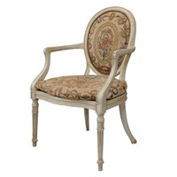 George III Adam Period Painted Open Arm Chair